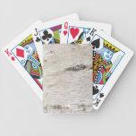 Corteza de abedul blanco baraja cartas de poker
