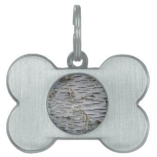 Corteza de abedul blanco placa mascota