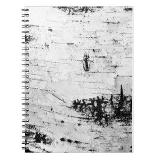 Corteza de abedul cuaderno