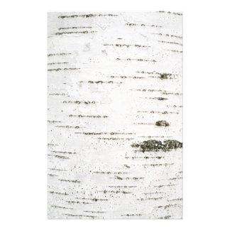 Corteza de abedul papelería personalizada