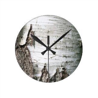 Corteza de abedul relojes