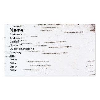 Corteza de abedul tarjeta de visita
