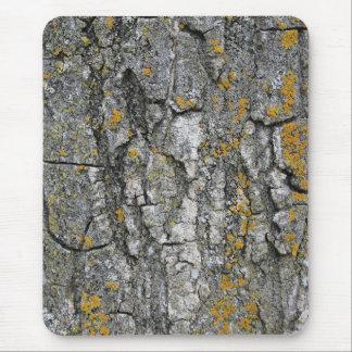 Corteza de árbol de madera del falso Grunge gris Alfombrilla De Ratón