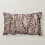 Corteza de árbol de pino almohada