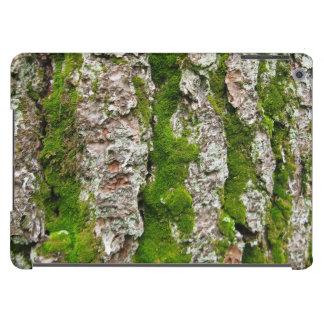 Corteza de árbol de pino con el musgo carcasa iPad air