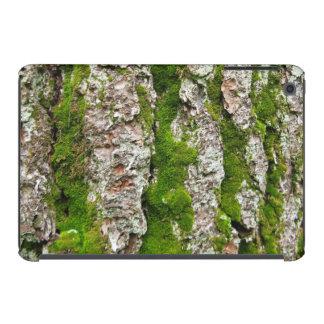 Corteza de árbol de pino con el musgo carcasa para iPad mini retina