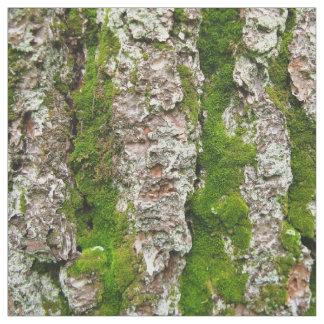 Corteza de árbol de pino con la tela de la foto telas