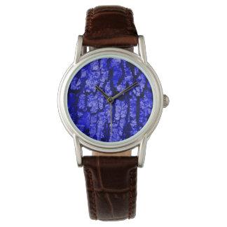 Corteza de árbol, estructura reloj de mano