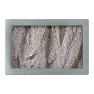 Corteza de árbol hebilla cinturon rectangular