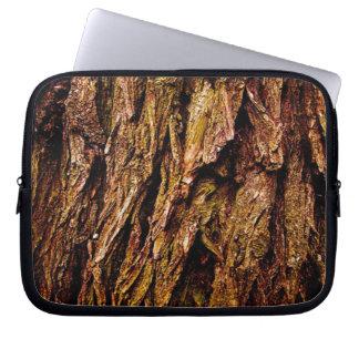 Corteza de árbol real mangas computadora