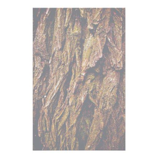 Corteza de árbol real papeleria