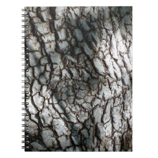 Corteza de árbol rústica notebook