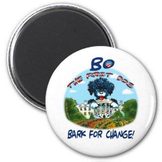 """¡Corteza de BO Obama """"para el cambio! """" Imán Redondo 5 Cm"""