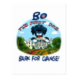 """¡Corteza de BO Obama """"para el cambio! """" Tarjeta Postal"""
