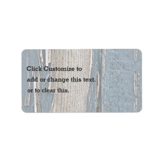 Corteza de madera pelada etiqueta de dirección