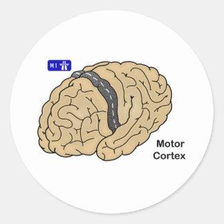 Corteza de motor pegatina redonda