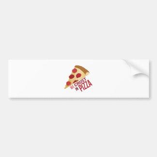 Corteza en pizza pegatina para auto