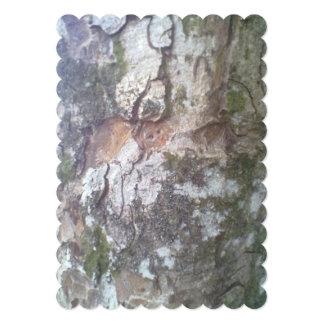 Corteza en un árbol comunicado personalizado