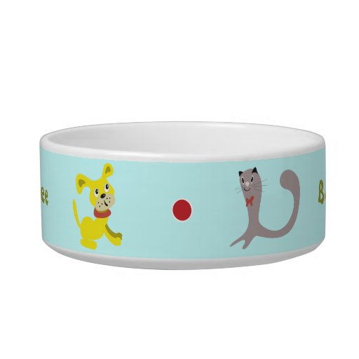 Corteza encima de mi cuenco del mascota del árbol tazon para gato