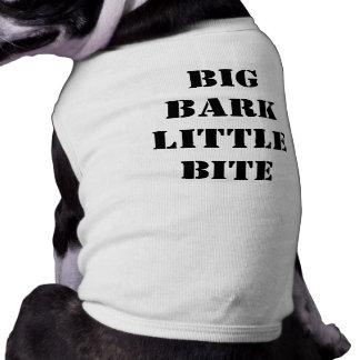 Corteza grande poca mordedura playera sin mangas para perro