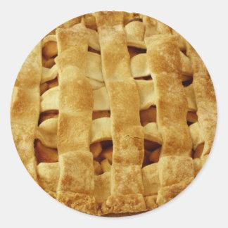 Corteza hecha americana del zigzag de la empanada pegatinas