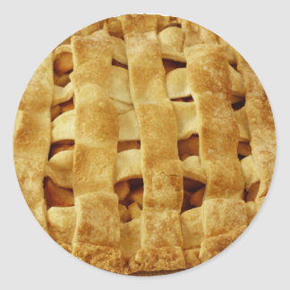 Corteza hecha americana del zigzag de la empanada pegatina redonda