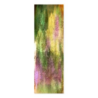 Corteza multicolora con los rastros del insecto tarjetas de visita mini
