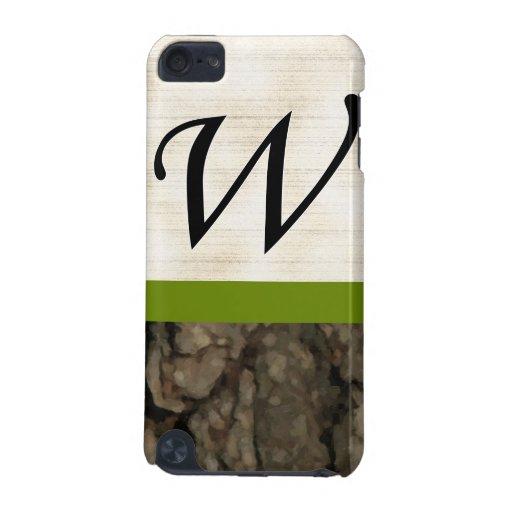 Corteza oscura 1 del monograma de W Painterly Funda Para iPod Touch 5G