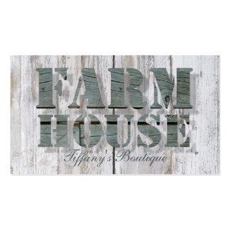 cortijo de madera del país occidental del granero tarjetas de visita