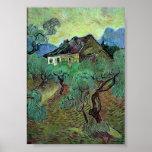 Cortijo de Van Gogh entre los olivos (F664) Posters