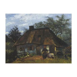 Cortijo de Vincent van Gogh en Nuenen Impresión En Lienzo Estirada