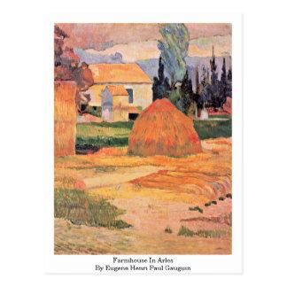 Cortijo en Arles de Eugene Enrique Paul Gauguin Tarjetas Postales