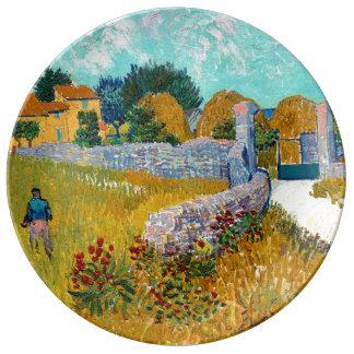 Cortijo en bella arte de Provence (F454) Van Gogh Platos De Cerámica
