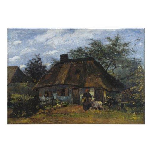 Cortijo en Nuenen de Vincent van Gogh Arte Fotográfico