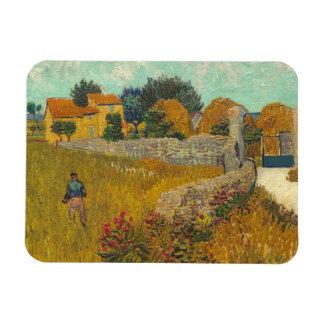 Cortijo en Provence 1888 aceite en lona Imán De Vinilo