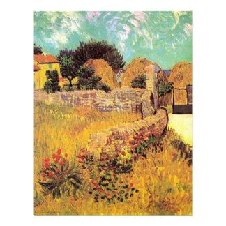 Cortijo en Provence de Van Gogh Plantilla De Membrete