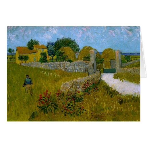 Cortijo en Provence, Vincent van Gogh Tarjeta Pequeña