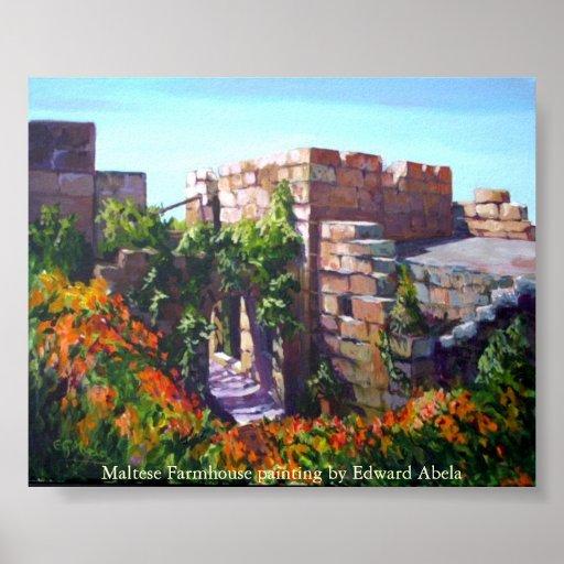 Cortijo maltés en la bahía de San Pablo Póster