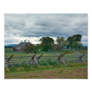 Cortijo - parque nacional de Gettysburg - PA Fotografía