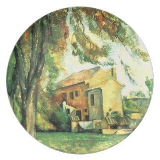 Cortijo y castaña… por la placa de Paul Cezanne Platos