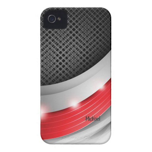 Cortina abstracta metálica iPhone 4 Case-Mate protectores