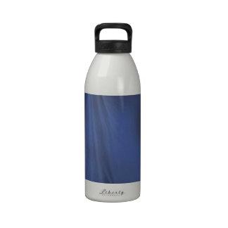Cortina azul botella de agua reutilizable