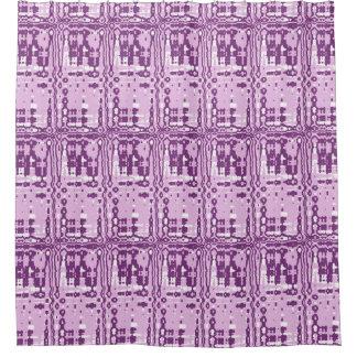 Cortina de ducha abstracta púrpura de la rejilla cortina de baño