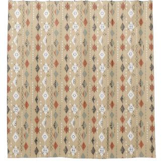 cortina de ducha atómica del diseño del vintage de cortina de baño