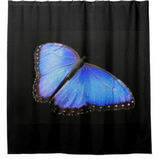 Cortina de ducha azul de la mariposa de Morpho Cortina De Baño