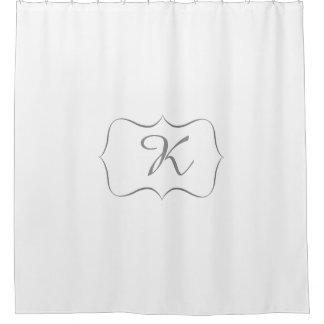 Cortina de ducha de encargo del monograma cortina de baño