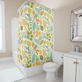 Cortina de ducha de las hojas del bonito cortina de baño