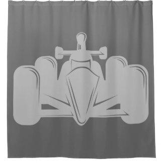 Cortina de ducha del coche de carreras del estilo cortina de baño