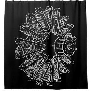 Cortina de ducha del diagrama del motor de pistón cortina de baño