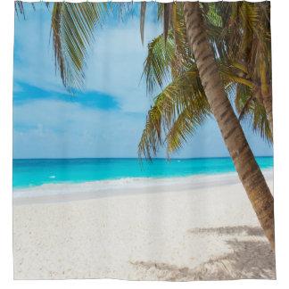 Cortina de ducha del paraíso de la playa cortina de baño